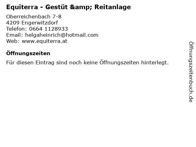 Equiterra - Gestüt & Reitanlage in Engerwitzdorf: Adresse und Öffnungszeiten