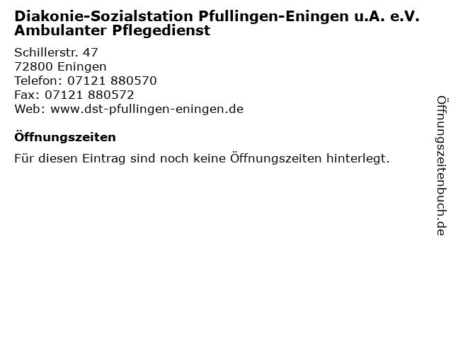 Diakonie-Sozialstation Pfullingen-Eningen u.A. e.V. Ambulanter Pflegedienst in Eningen: Adresse und Öffnungszeiten