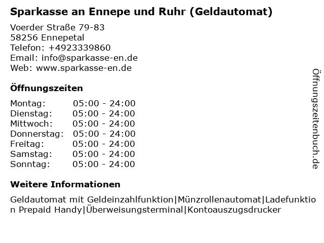 Sparkasse Ennepetal-Breckerfeld - (Geldautomat Hauptgeschäftsstelle ) in Ennepetal: Adresse und Öffnungszeiten