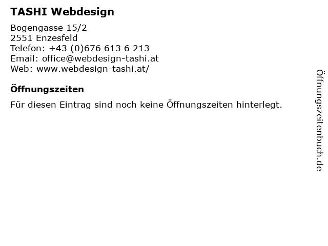 TASHI Webdesign in Enzesfeld: Adresse und Öffnungszeiten