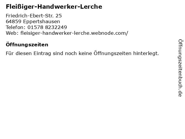 Fleißiger-Handwerker-Lerche in Eppertshausen: Adresse und Öffnungszeiten