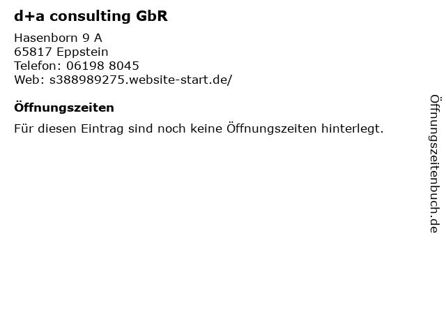 d+a consulting GbR in Eppstein: Adresse und Öffnungszeiten
