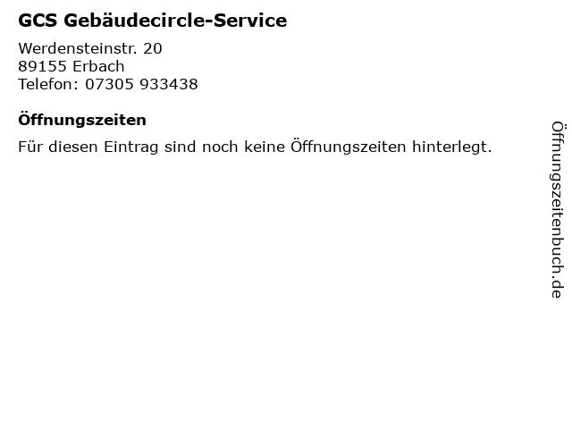 GCS Gebäudecircle-Service in Erbach: Adresse und Öffnungszeiten