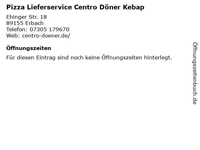 Pizza Lieferservice Centro Döner Kebap in Erbach: Adresse und Öffnungszeiten