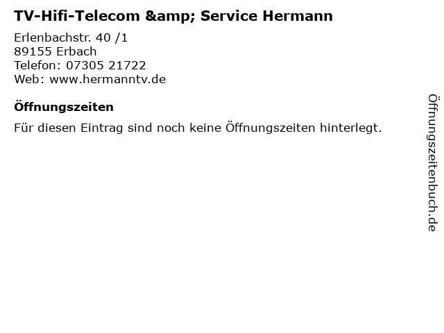 TV-Hifi-Telecom & Service Hermann in Erbach: Adresse und Öffnungszeiten