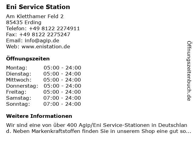 Agip Service Station in Erding: Adresse und Öffnungszeiten