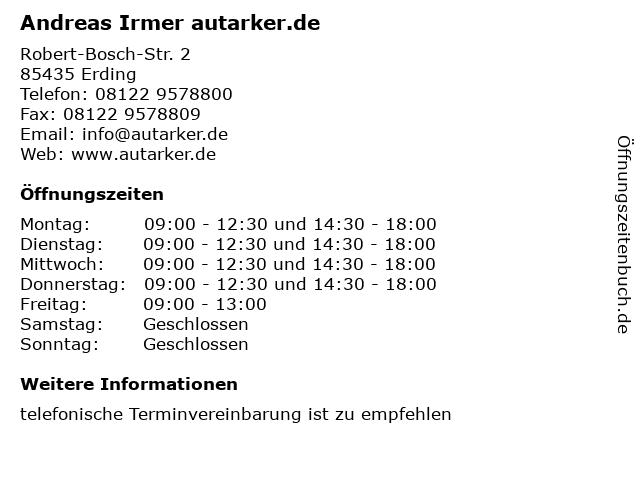 Andreas Irmer autarker.de in Erding: Adresse und Öffnungszeiten