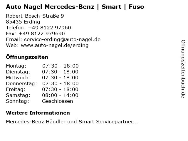 Autohaus Nagel | Mercedes-Benz | Smart | Fuso in Erding: Adresse und Öffnungszeiten