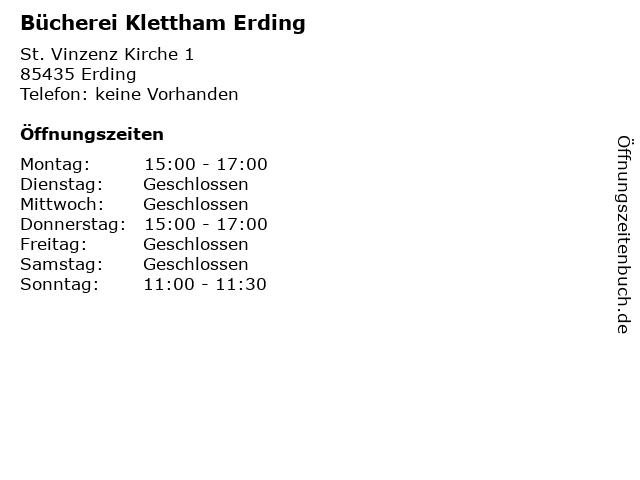 Bücherei Klettham Erding in Erding: Adresse und Öffnungszeiten