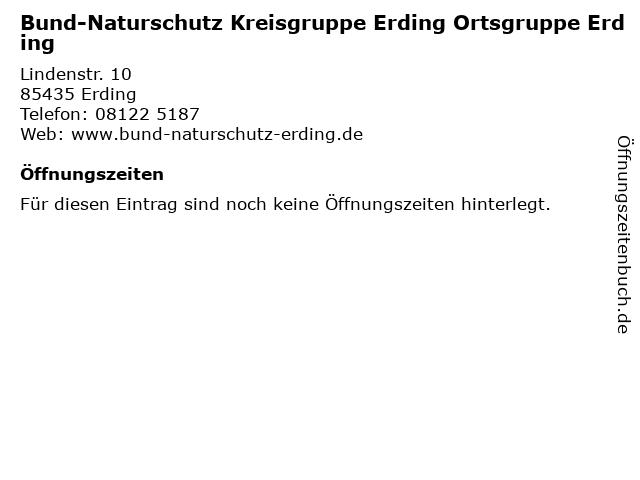 Bund-Naturschutz Kreisgruppe Erding Ortsgruppe Erding in Erding: Adresse und Öffnungszeiten