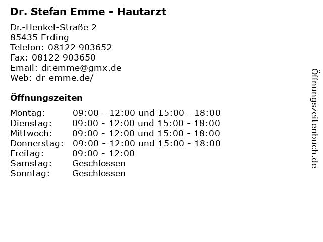 Dr. Stefan Emme - Hautarzt in Erding: Adresse und Öffnungszeiten