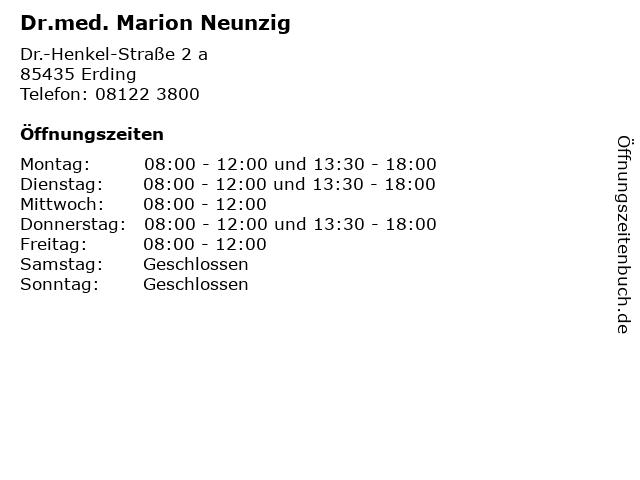 Dr.med. Marion Neunzig in Erding: Adresse und Öffnungszeiten