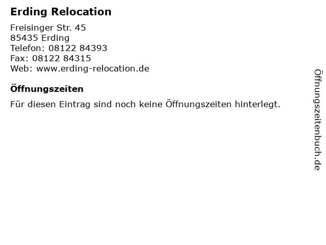 Erding Relocation in Erding: Adresse und Öffnungszeiten