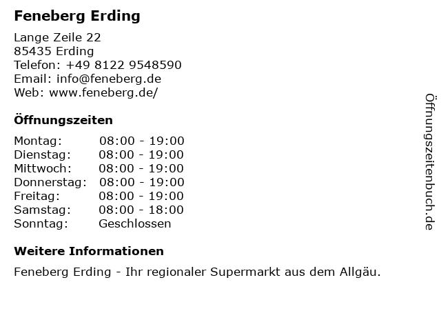 Feneberg Lebensmittel GmbH in Erding: Adresse und Öffnungszeiten