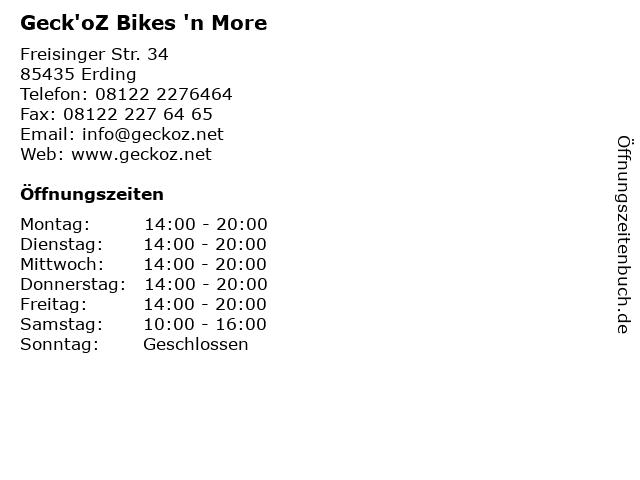 Geck'oZ Bikes 'n More in Erding: Adresse und Öffnungszeiten