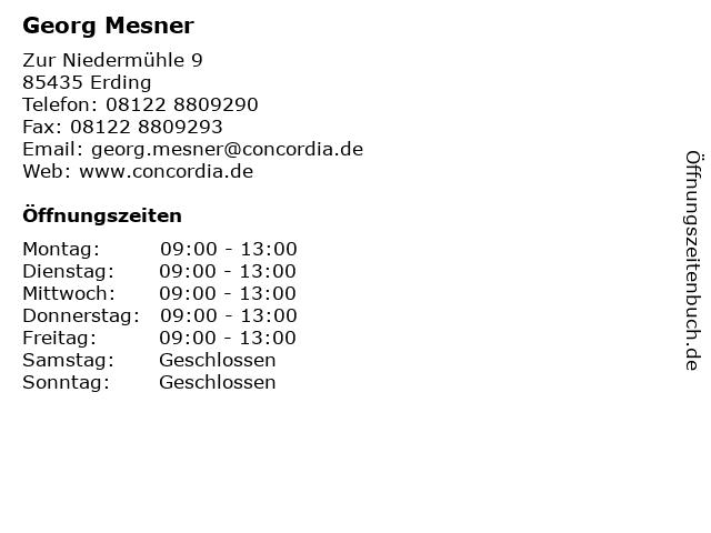 Georg Mesner in Erding: Adresse und Öffnungszeiten