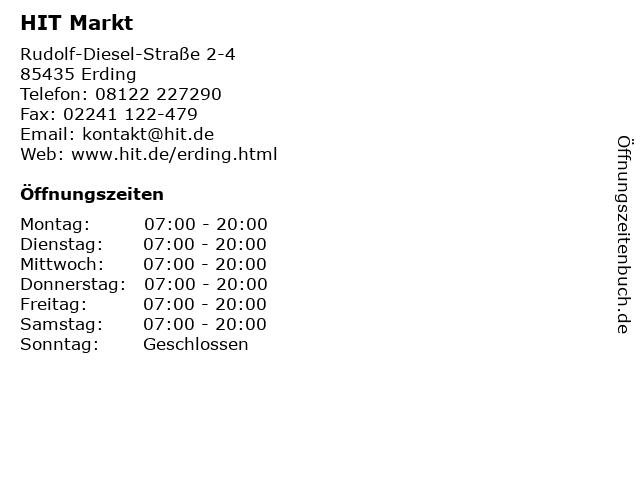 HIT Markt in Erding: Adresse und Öffnungszeiten