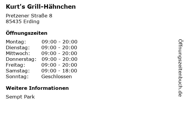 Kurt's Grill-Hähnchen in Erding: Adresse und Öffnungszeiten