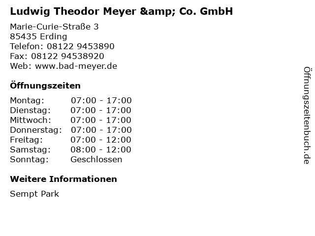 Ludwig Theodor Meyer & Co. GmbH in Erding: Adresse und Öffnungszeiten