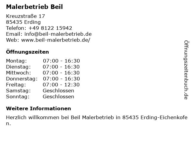 Malerbetrieb Beil in Erding: Adresse und Öffnungszeiten