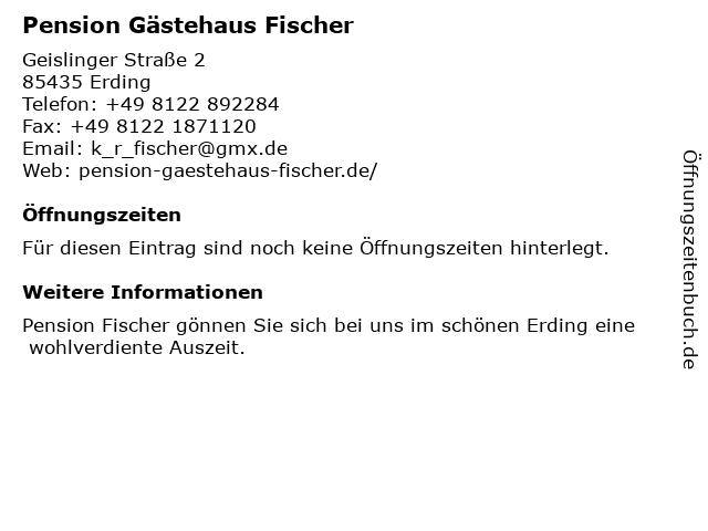 Pension Gästehaus Fischer in Erding: Adresse und Öffnungszeiten