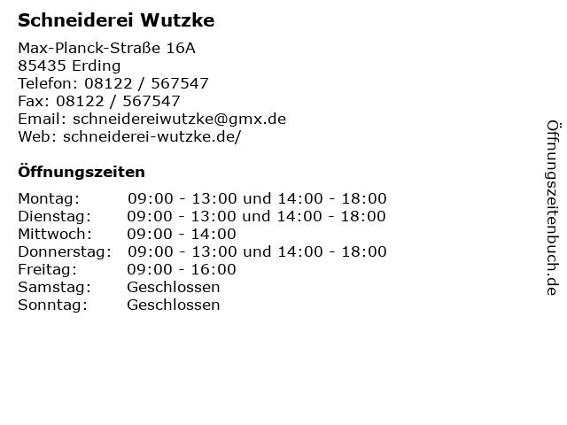 Schneiderei Wutzke in Erding: Adresse und Öffnungszeiten