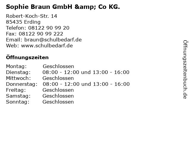 Sophie Braun GmbH & Co KG. in Erding: Adresse und Öffnungszeiten