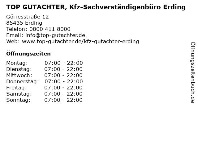 TOP GUTACHTER, Kfz-Sachverständigenbüro Erding in Erding: Adresse und Öffnungszeiten