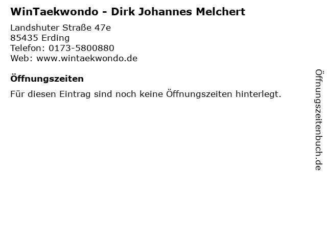 WinTaekwondo - Dirk Johannes Melchert in Erding: Adresse und Öffnungszeiten