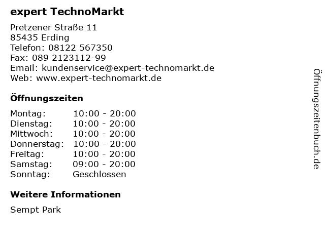 expert TechnoMarkt in Erding: Adresse und Öffnungszeiten