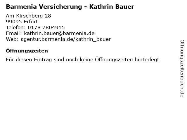 Barmenia Versicherung - Kathrin Bauer in Erfurt: Adresse und Öffnungszeiten