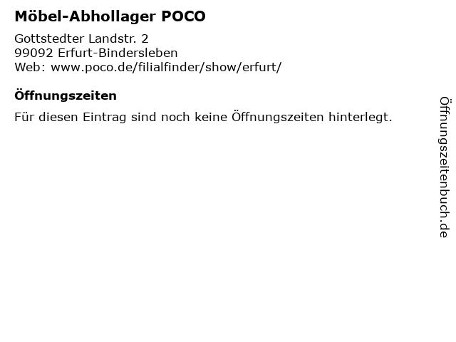 ᐅ öffnungszeiten Möbel Abhollager Poco Gottstedter Landstr 2