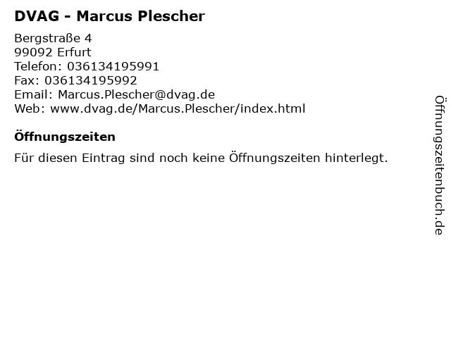 DVAG - Marcus Plescher in Erfurt: Adresse und Öffnungszeiten