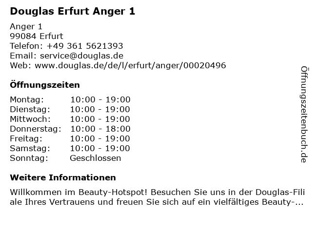 Parfümerie Douglas Erfurt in Erfurt: Adresse und Öffnungszeiten