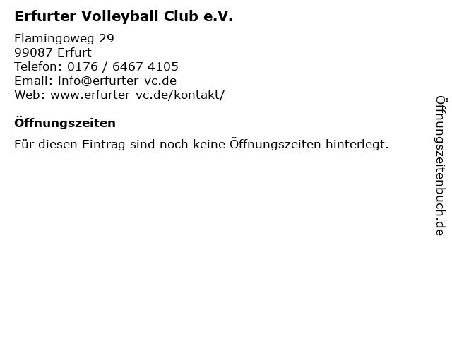 Erfurter Volleyball Club e.V. in Erfurt: Adresse und Öffnungszeiten