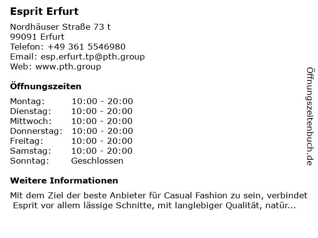 Esprit Erfurt in Erfurt: Adresse und Öffnungszeiten