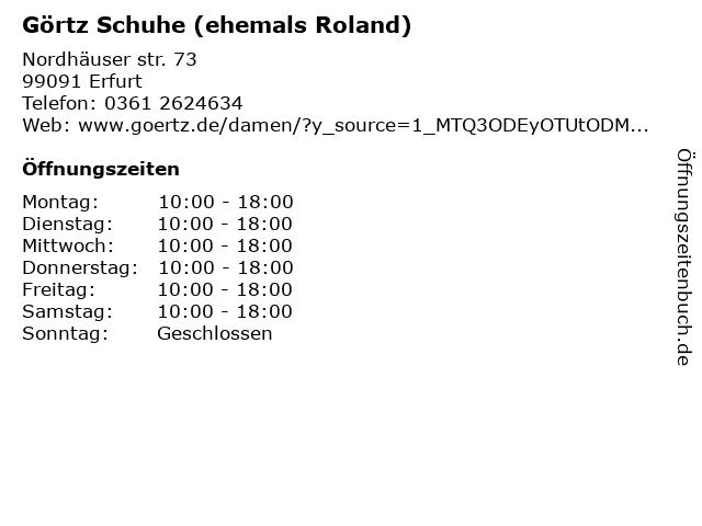 ROLAND Schuhe in Erfurt: Adresse und Öffnungszeiten