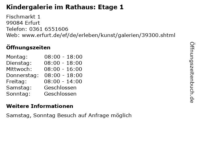 Kindergalerie im Rathaus: Etage 1 in Erfurt: Adresse und Öffnungszeiten