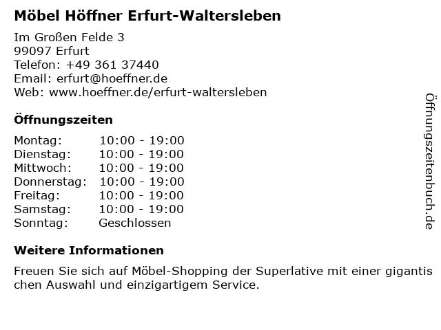 ᐅ öffnungszeiten Möbel Höffner Im Großen Felde 3 In Erfurt