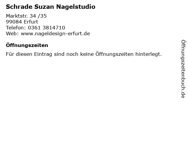 Schrade Suzan Nagelstudio in Erfurt: Adresse und Öffnungszeiten