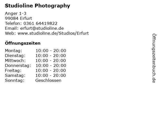 Studioline Photography in Erfurt: Adresse und Öffnungszeiten
