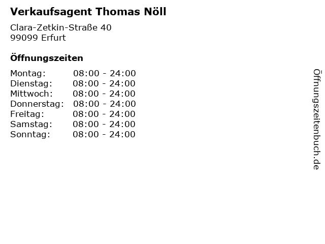 Verkaufsagent Thomas Nöll in Erfurt: Adresse und Öffnungszeiten