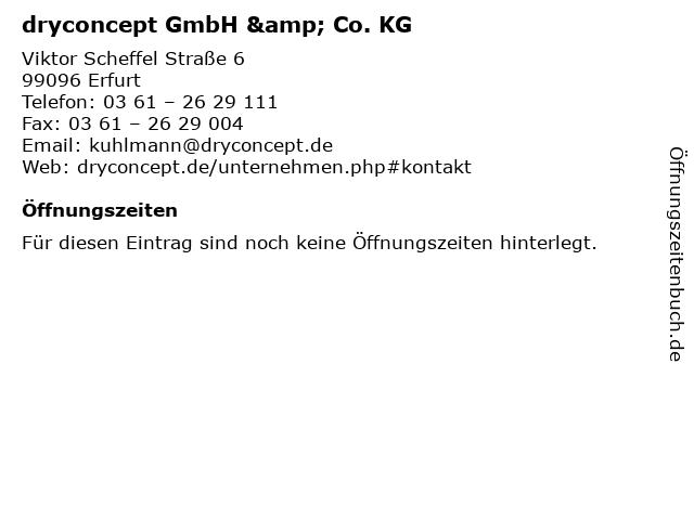 dryconcept GmbH & Co. KG in Erfurt: Adresse und Öffnungszeiten