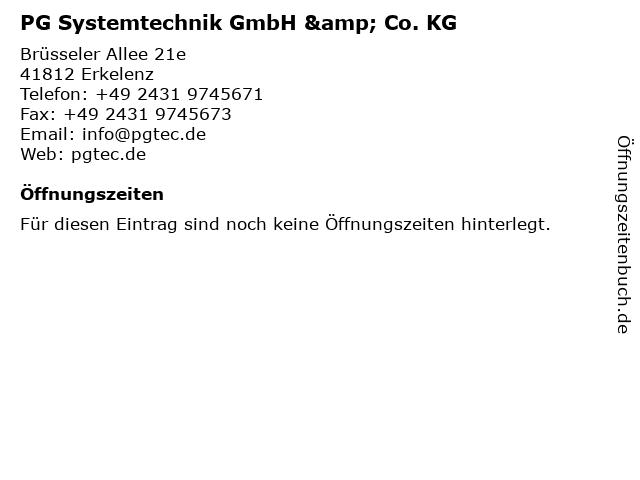 PG Systemtechnik GmbH & Co. KG in Erkelenz: Adresse und Öffnungszeiten