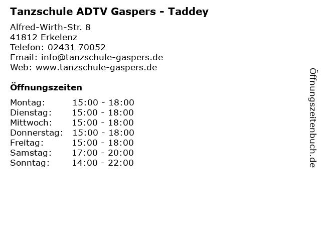 Tanzschule ADTV Gaspers - Taddey in Erkelenz: Adresse und Öffnungszeiten