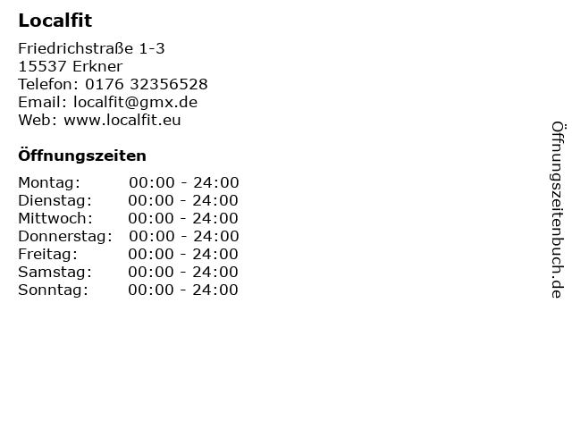Localfit in Erkner: Adresse und Öffnungszeiten