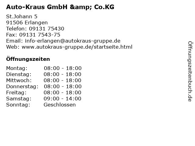 Auto-Kraus GmbH & Co.KG in Erlangen: Adresse und Öffnungszeiten