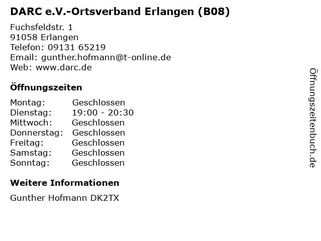 DARC e.V.-Ortsverband Erlangen (B08) in Erlangen: Adresse und Öffnungszeiten