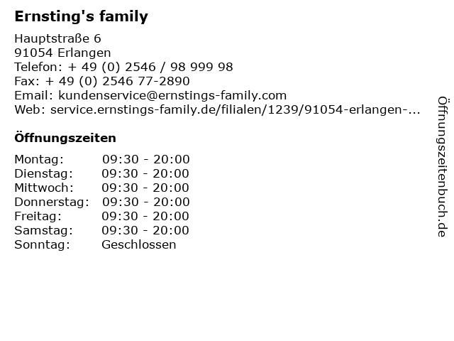 Ernsting's family GmbH & Co. KG in Erlangen: Adresse und Öffnungszeiten