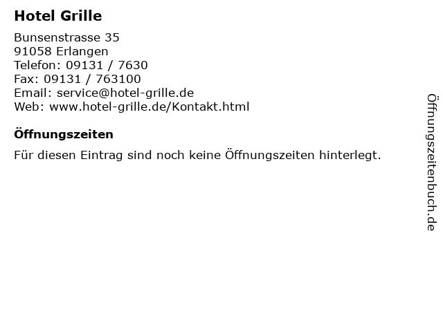 Hotel Grille in Erlangen: Adresse und Öffnungszeiten